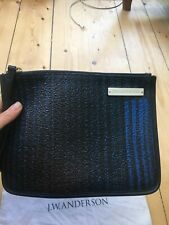 Black And Blue Leather Pouch JW Anderson, Brand New!