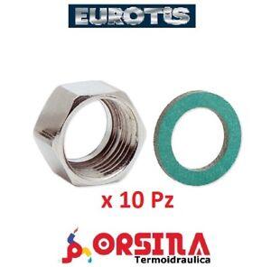 "Dado per flessibile Inox per acqua Ø 3/8 1/2 3/4 1"" Eurotis"