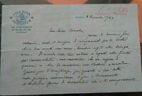 1963 LETTERA MONS. MARIO RIZZI DI SAN GIOVANNI IN PERSICETO DA GERUSALEMME