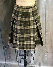 Vintage 1960's Brown & Tan Plaid Skirt Perfect Fall / Winter Fashion