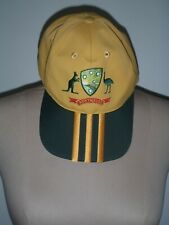 AUSTRALIAN CRICKET CAP, HAT, ADIDAS, NEW WITHOUT TAGS, GREEN AND GOLD