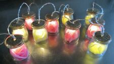 Premier Decorations 10 Glass Jars With Flowers & Battery Operated Lights