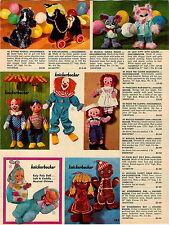 1966 ADVERTISEMENT Knickerbocker Bozo The Clown Marionette Doll Gingerbread Man