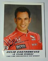 2007 HELIO CASTRONEVES SIGNED AUTOGRAPHED IRL PHOTO CARD & COA INDY 500 RACING
