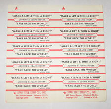 Johnnie & Joanie Mosby Full Sheet 10 Jukebox Title Strips Make A Left & Then A