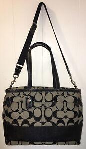 COACH Signature Stripe Jacquard Multi-function Tote/Baby Diaper Bag F13803