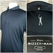 Mizzen + Main Phil Mickelson Mens Large S/S Performance Golf Polo Shirt Black