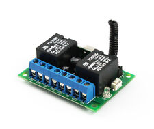 2CH Superheterodyne Wireless Relay Receiver-Momentary,Toggle,Latch On/Off in One