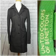 United Colors of Benetton Women's Button Trench w/Cinched Waist, Size 6