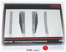 Märklin 8190 Coffret D'extension E avec aiguillage Manuel # in #