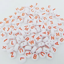 100PCS Spacer Acrylic Beads DIY Cube Making Loose Random Alphabet Jewelry Letter