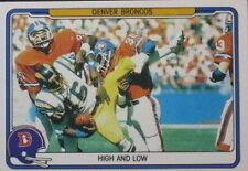 Serial Numbered Fleer Denver Broncos Single Football Cards