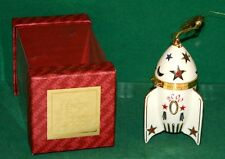 Lenox Commemorate 2000 Rocket Ship Time Capsule Christmas Ornament In Orig Box