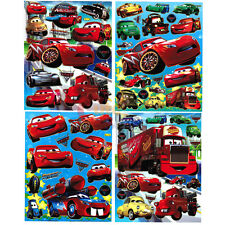 Disney Cars Mcqueen Stickers Set - 4 Sheets Wall  Window Stickers Decal