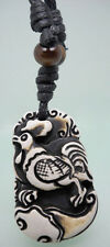 H1065 Rooster new wooden bead adjustable string resin pendant necklace