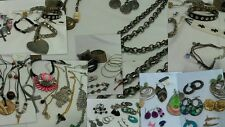 Vintage to Now Costume Jewelry Lot Necklace Bracelets and Earrings 50 pieces