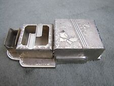 Vintage Japanese Art Deco Style Cigerette Holder match holder ashtray 3 PieceSet