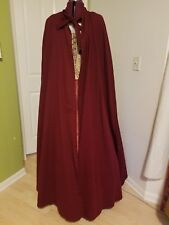 Renaissance Full Length Traveller's Cloak - Burgundy - Unisex