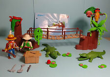 PLAYMOBIL Giungla/Jungle ~ Alligatore burrone/Crocodile Swamp & Manual (3016)