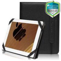GreatShield Black Luxury PU Leather Folio Case Cover for Apple iPad 2 3 4 Gen