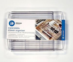 iDesign Bath Storage Expandable Drawer Organizer 7 Compartments 11.25-19 in Wide