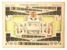 Pellerin Imagerie D'Epinal 918 M Airplane Constructions Aeroplane Monoplan model