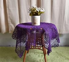 Pretty Purple Flower Hand Crochet Lace Table Cloth--90CM