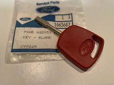 NEW GENUINE FORD RED MASTER KEY TIBBIE RS ESCORT FIESTA MONDEO PUMA SCORPIO NOS