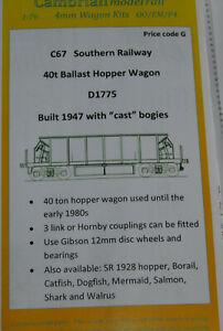 CAMBRIAN C67 KIT SR 40ton Ballast Hopper Wagon  NEW OO GAUGE