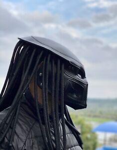 Predator Leather Mask Post apocalyptic Mask Predator Helmet Burning Man Mask