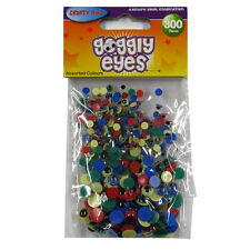 Googly Eyes - Pack of 300, Assorted Sizes and Colours - By Crafty Bitz