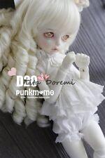 Bjd Doll Wig 1/4 7-8 Dal Pullip AOD AE SD DOD LUTS Dollfie milky white Curly