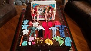 The World of Barbie Double Case Dolls & Clothes Lot