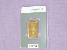 Goldbarren Heraeus Hanau 10 g Feingold 999.9 Nr. 394748