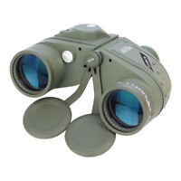 10X50 Military Marine BAK4 Prism Binoculars Waterproof With Rangefinder Compass