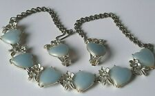 Vintage Costume Jewellery - Great 50's Thermoset Necklace & Earrings Set
