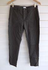 Sportscraft Women's Green (Green-Grey) Pants with Ankle Zippers - Size 8