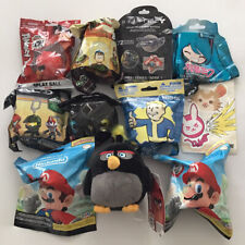 Nintendo Mario Angry Birds Plush Bag Halo Clip Bling Bag Lot NEW
