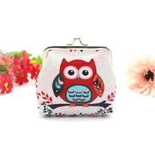 Womens Girls Owl Wallet Card Holder Coin Purse Clutch Handbag Tote Vintage Bag #