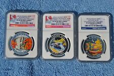 3 coin set of $20 2013-14 Canada coins, NGC, PF69, Early/First Releases