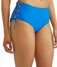 Time And Tru Women's plus Mid-rise Swimsuit Bottom Sz 2X (20W-22W)  Blue Empire