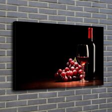 Food Bottles Red Wine Painting HD Print on Canvas Home Decor Wall Art Picture