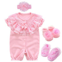 Newborn baby girls clothes bodysuit wedding party outfits &set baby shower gift