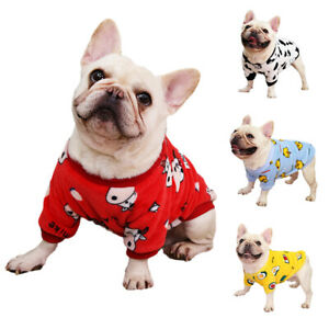 Soft Fleece Dog Jumper Winter Warm Dog Coat Jacket for Bulldog Pajamas Tracksuit
