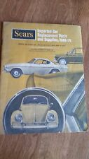 SEARS 1969-70 Imported Car Replacement Parts & Supplies. VW, Porsche, Opel, Mini