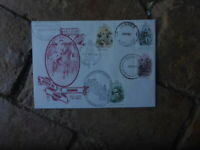 SOVEREIGN HILL COVER WITH 1981 GOLDMINING STAMPS AND 4 GOLD PLACES POSTMARKS FDI