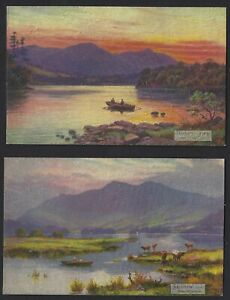 TUCK OILETTE DERWENTWATER SET of 6 BY ARTIST E LONGSTAFFE
