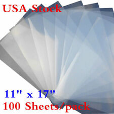 "USA! 100 Sheets 11"" x 17"" Waterproof Inkjet Milky Transparency Film Screen Print"