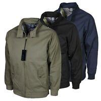 Men's KAM Harringtone Bomber Jacket Casual Wear Regular Fit Coats Sizes M-2XL