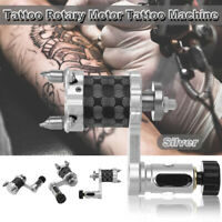 Aluminum Rotary Motor Tattoo Machine Body Art Beauty Liner Shader Tool Silver